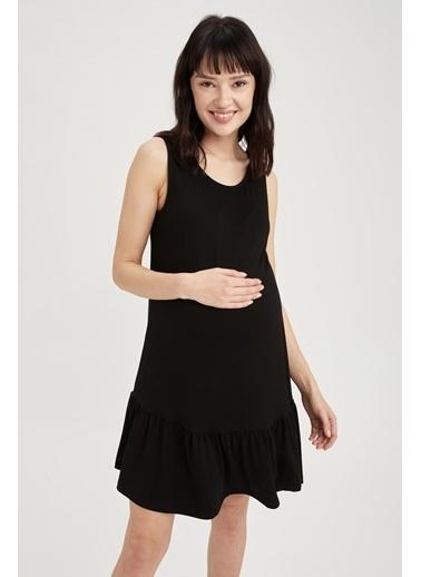 DeFacto Büzgülü Hamile Elbise Siyah